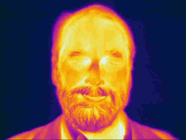 An infrared image of Ned Wright, the WISE principal investigator