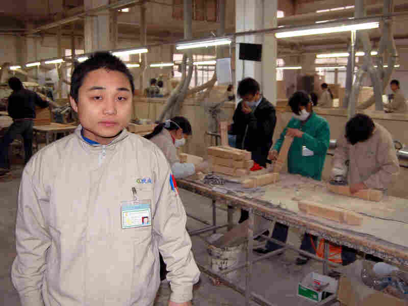 Chen Hong is a worker at a Chinese factory that makes furniture for the U.S.