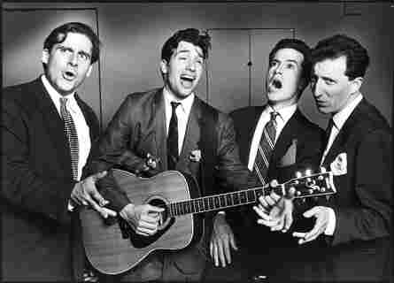 Steve Carell, Paul Dinello, Stephen Colbert and David Razowsky in 1993