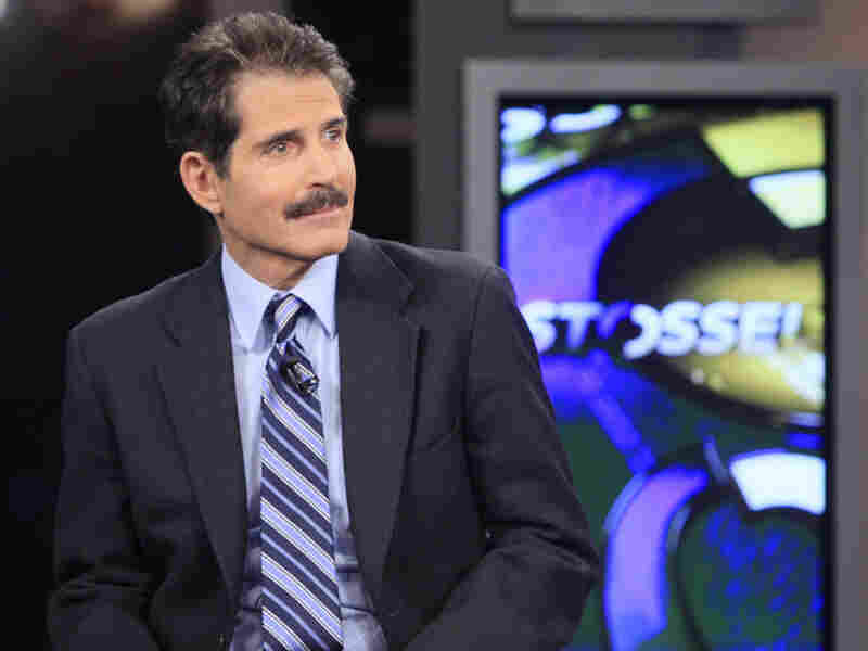 John Stossel during a taping of his new show on the Fox Business Network.