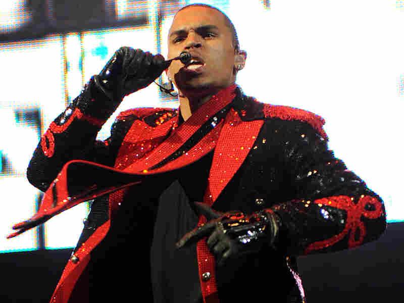 R&B singer Chris Brown performs in Rutherford, N.J., on Oct. 29.