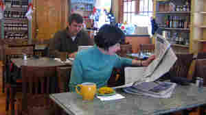WIDE: Cucina Deli customers Linda Price and Sam Wheatley enjoying cofee and a bite to eat.