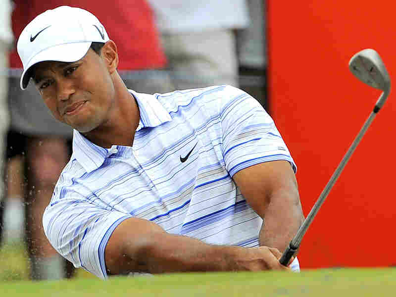 Golfer Tiger Woods competes in the Australian Masters in Melbourne on Nov. 14.