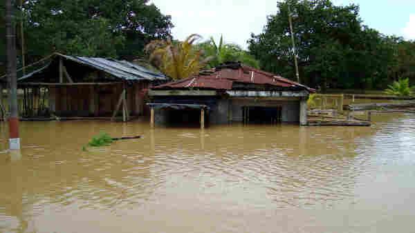 An image from the flooding that destroyed villages near Tumaco in February.