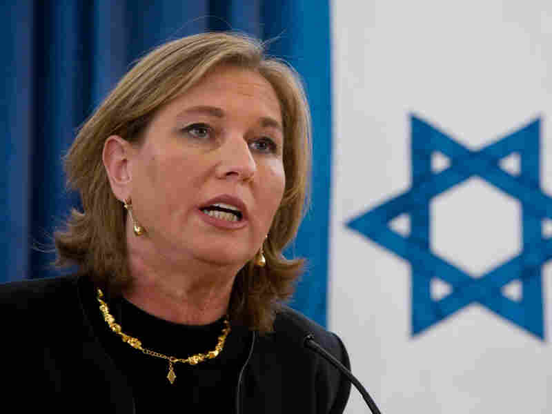 Tzipi Livni gives a farewell speech at the Foreign Ministry in Jerusalem in March.