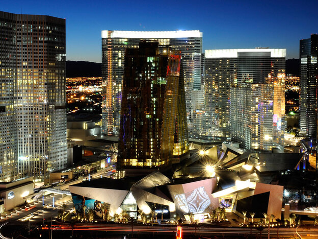 CityCenter is a 67-acre complex of buildings on the Las Vegas Strip.