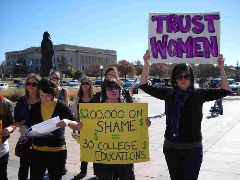 On Nov. 6, protesters rallied against Oklahoma's new abortion law at the state capitol.