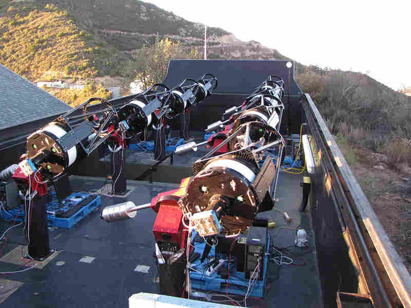 The MEarth project telescopes on Mount Hopkins in Arizona.