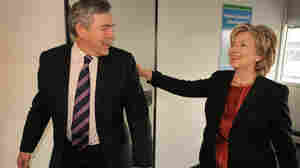 British Prime Minister Gordon Brown meets with U.S. Secretary of State Hillary Clinton in Copenhagen