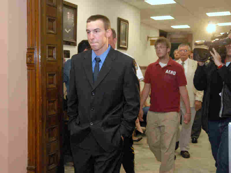 Derrick Donchak arrives at the courthouse for his sentencing in June.