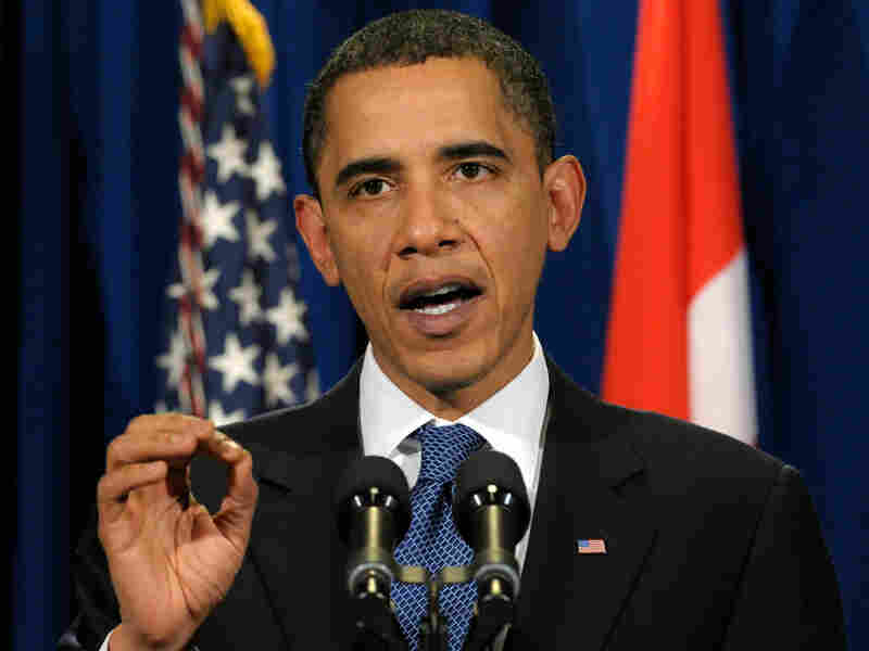 President Barack Obama makes a statement at the United Nations Climate Change Conferenc