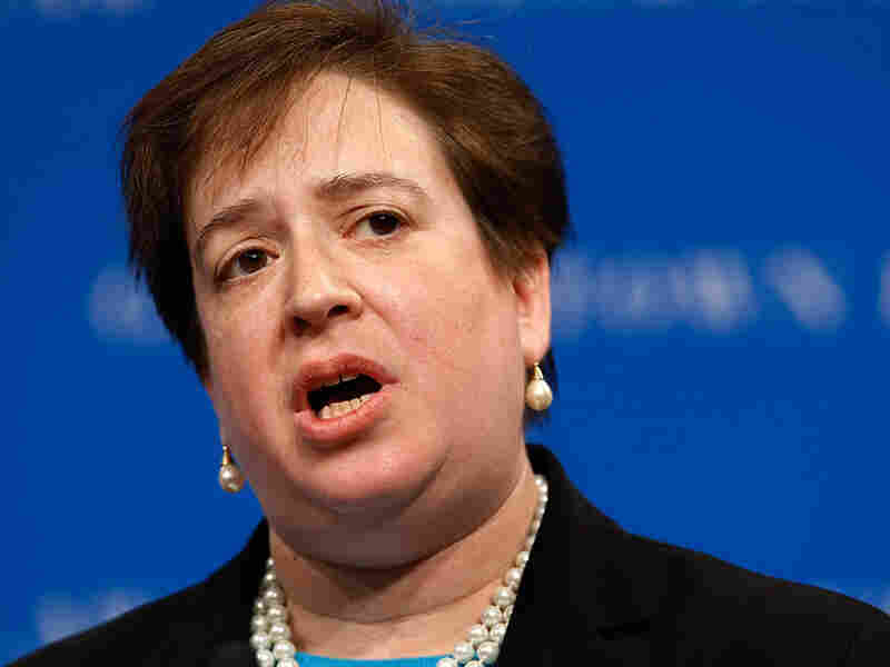 Elena Kagan gives an address at Georgetown University Law Center