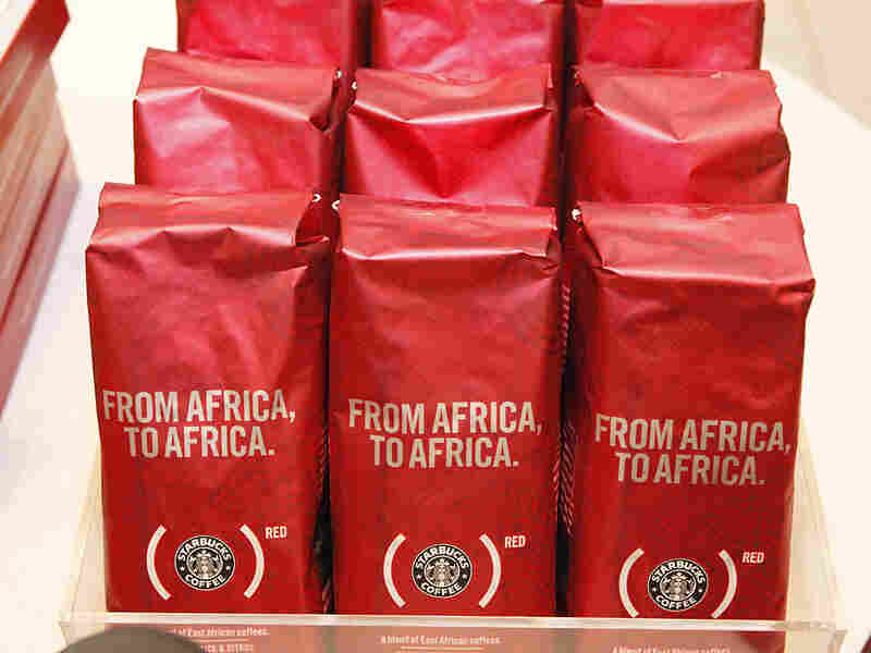 "Starbucks launched its ""Red"" campaign to raise money to fight AIDS in Africa in time for the holiday"