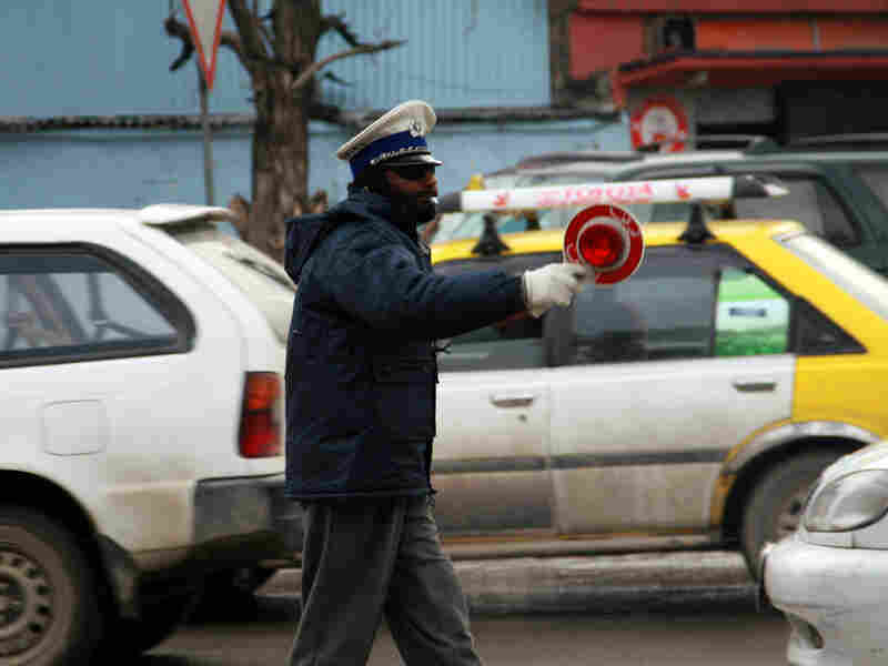 """This traffic officer in Kabul named Saboor, is renowned as the """"honest"""" cop."""