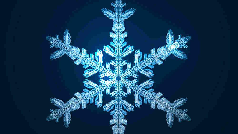 w. Scientifically correct snowflake