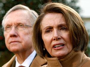 U.S. Speaker of the House Rep. Nancy Pelosi (D-CA) and Senate Majority Leader  Harry Reid (D-NV).