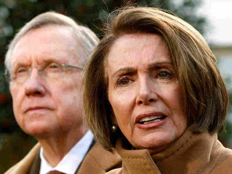 U.S. Speaker of the House Rep. Nancy Pelosi (D-CA) and Senate Majority Leader  Harry Reid (D-NV).