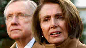 w: U.S. Speaker of the House Rep. Nancy Pelosi (D-CA) and Senate Majority Leader Sen. Harry Reid