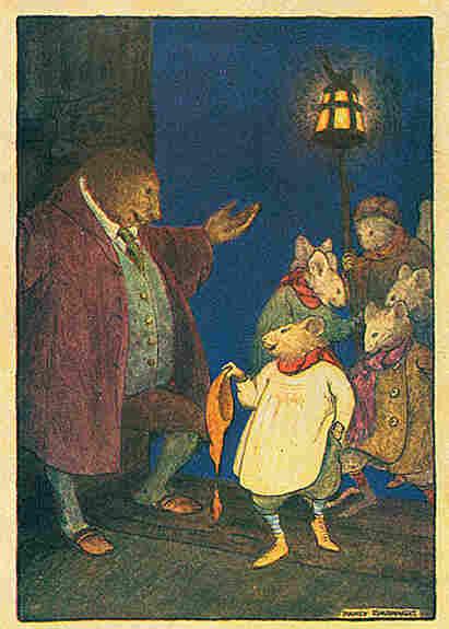 Nancy Barnhart's illustration of the field mice, 1923.