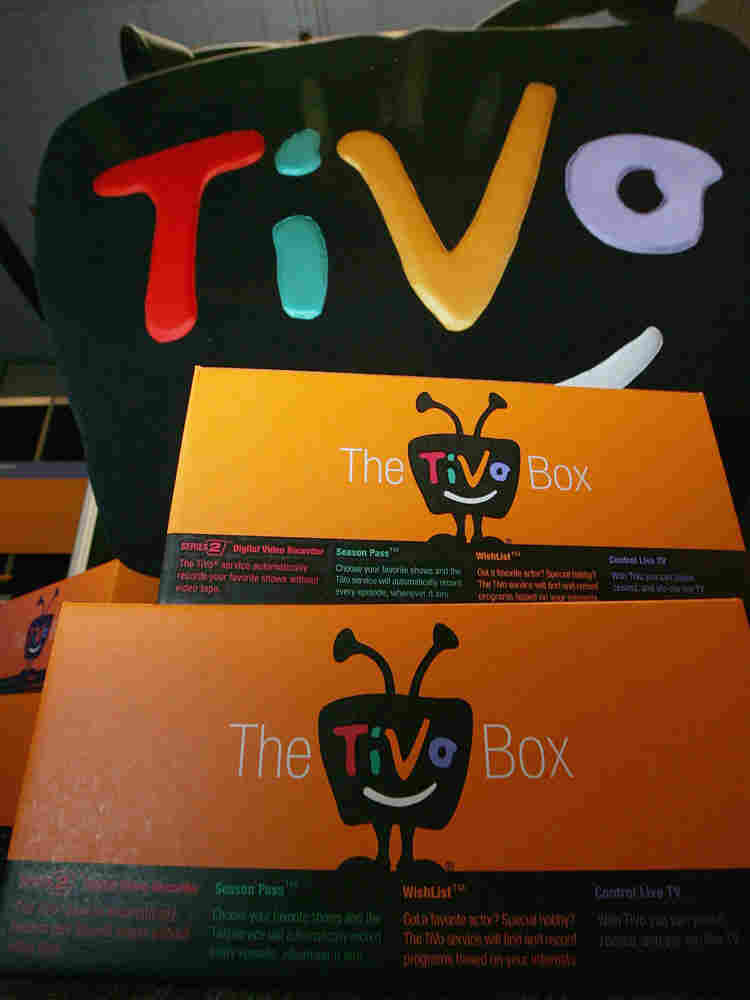 TiVO boxes are seen on display at the 2005 Consumer Electronics Show.