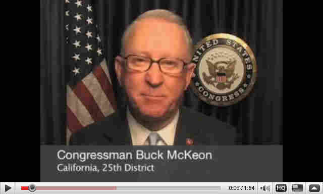Rep. Buck McKeon on YouTube.