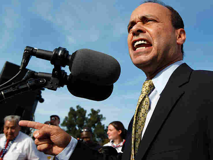 Rep. Luis Gutierrez (D-IL), speaking at an October rally for immigration reform.