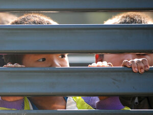 Hmong children in truck