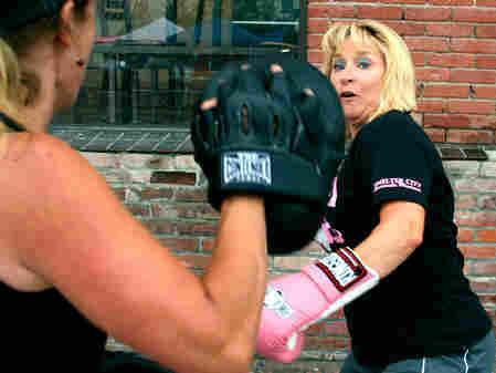 Members of Pink Gloves Boxing in Anaconda, Mont.