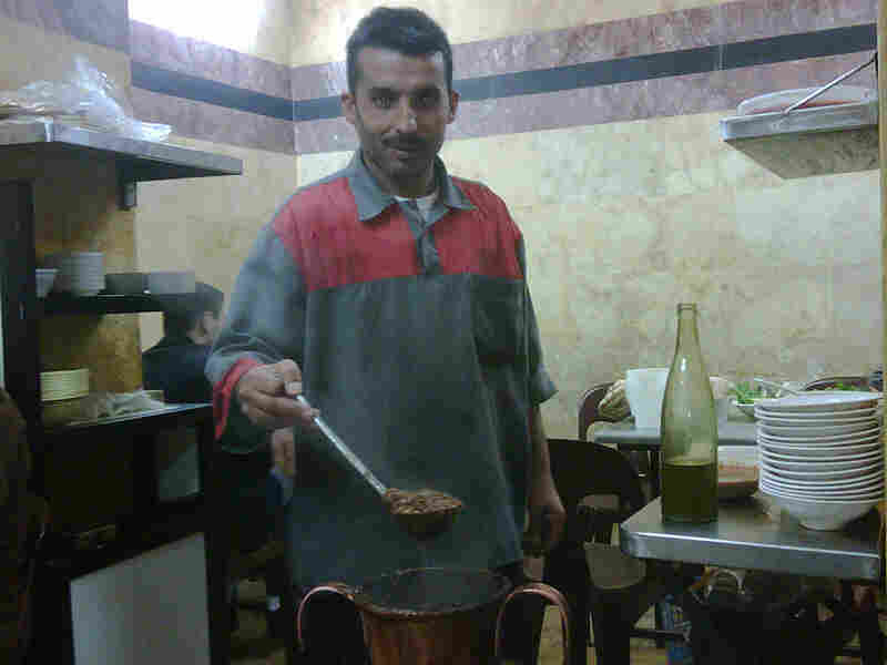 Abu Abdo in Aleppo, Syria, specializes in ful, a fava bean soup eaten for breakfast.