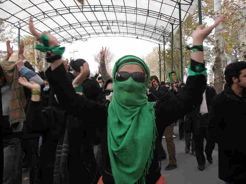 Iranian opposition supporter