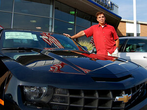 Greg Smith and his new Camaro