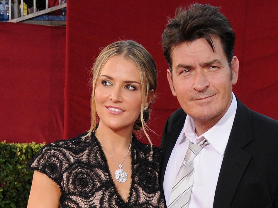 Charlie Sheen and his wife, Brooke Mueller, in happier times.