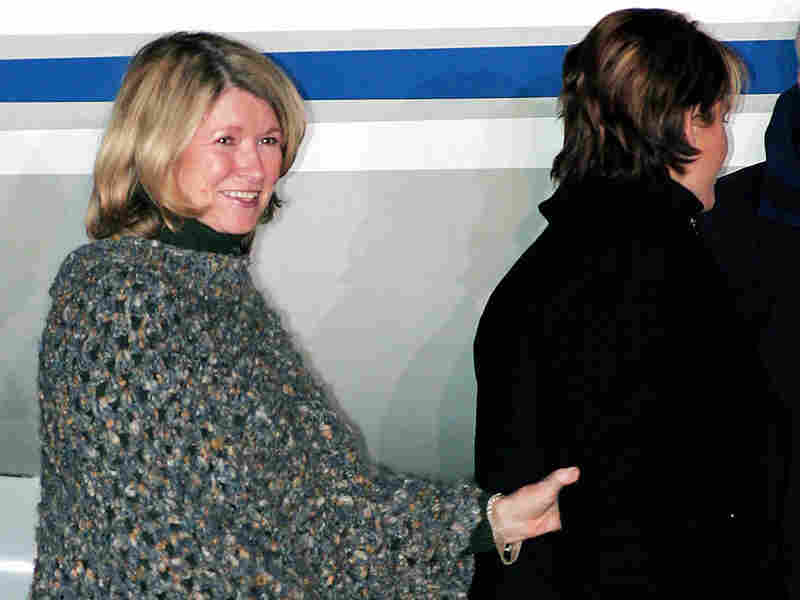 Martha Stewart boards a private jet after being released from prison in Lewisburg, W. Va., March 4,