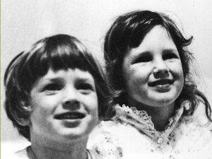 Producer Sasha Aslanian and her brother, Joel, circa 1978.