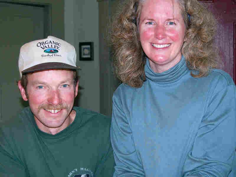 Tim Maikshilo and Kristen Dellert in their kitchen.