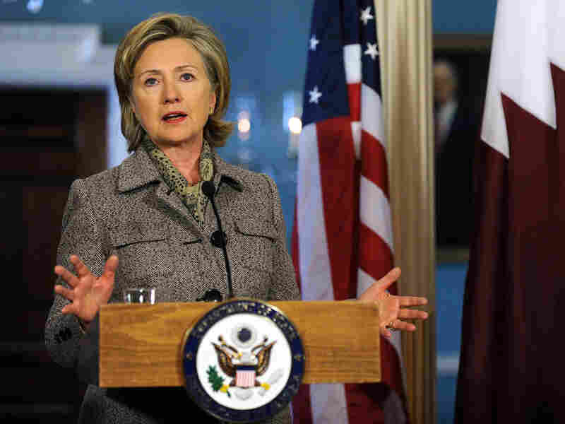 Secretary of State Hillary Clinton holds a press conference