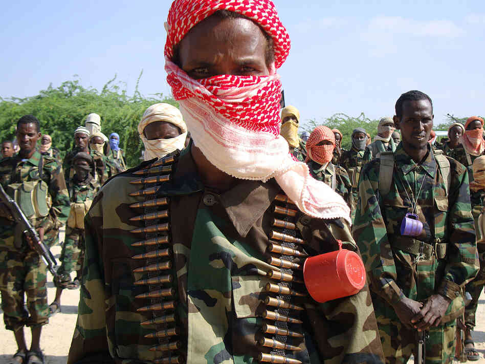 Shebab fighters in Yemen