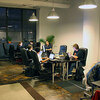 At New Work City patrons work in provided, communal office space.