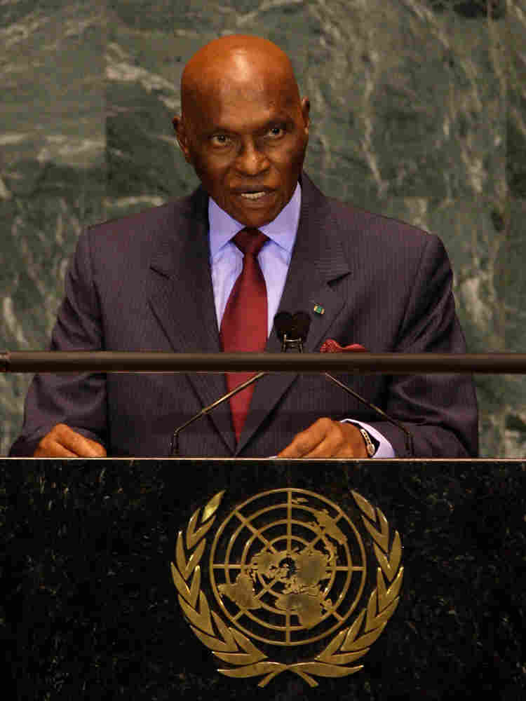 Senegal's president, Abdoulaye Wade, addresses the United Nations General Assembly on Sept. 24, 2009