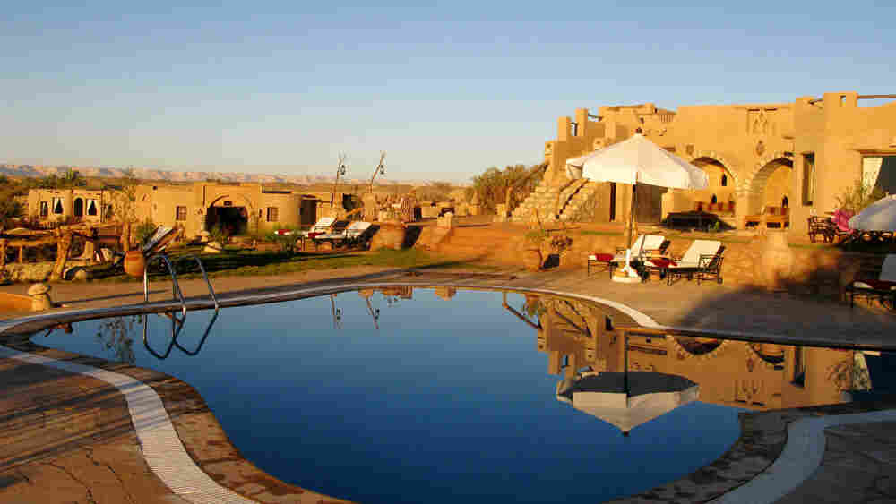 Pool at the new Al Tarfa luxury eco-lodge near Al Qasr