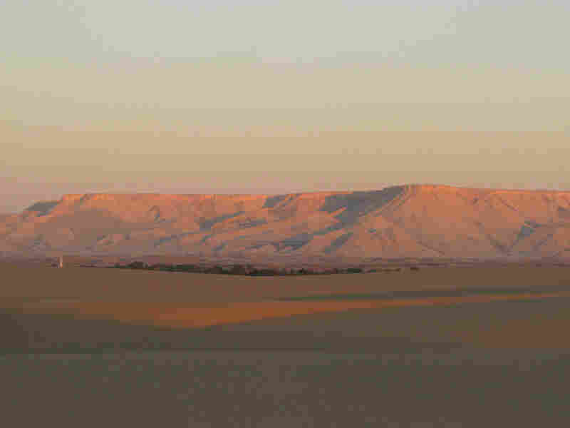 Escarpment and dunes surrounding the Dakhla Oasis