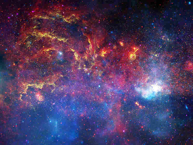 A view of the central region of the Milky Way galaxy