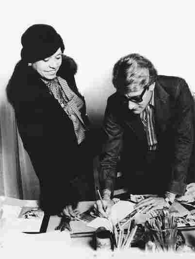 c: Eunice Johnson and Yves Saint Laurent