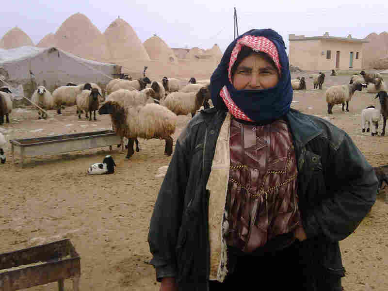 Nofa Hamid, 51, has been tending sheep since she was a child.