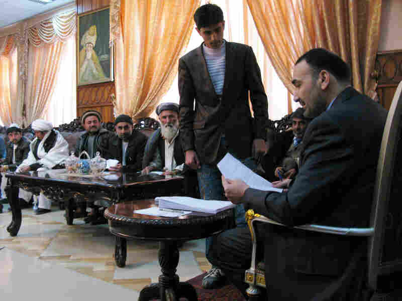 Gov. Mohammad Noor meets with businessmen, tribal elders and officials in Mazar-e-Sharif