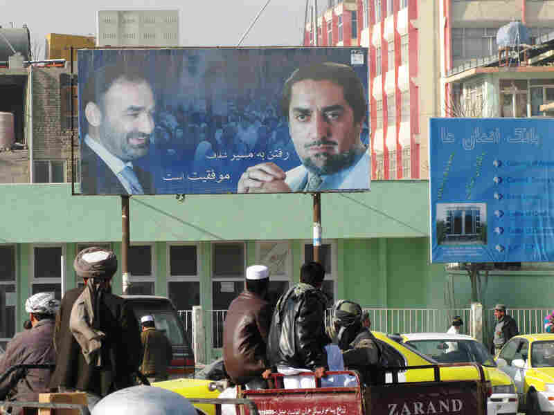 Billboards of Atta and former presidential candidate Abdullah Abdullah