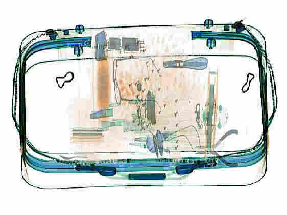 A scanned image of a suitcase