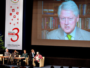 Former President Clinton Teleconferences