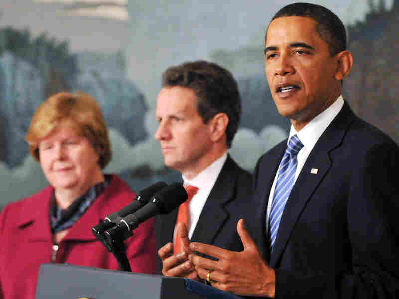 Barack Obama speaks in the Diplomatic Reception Room in the White House.