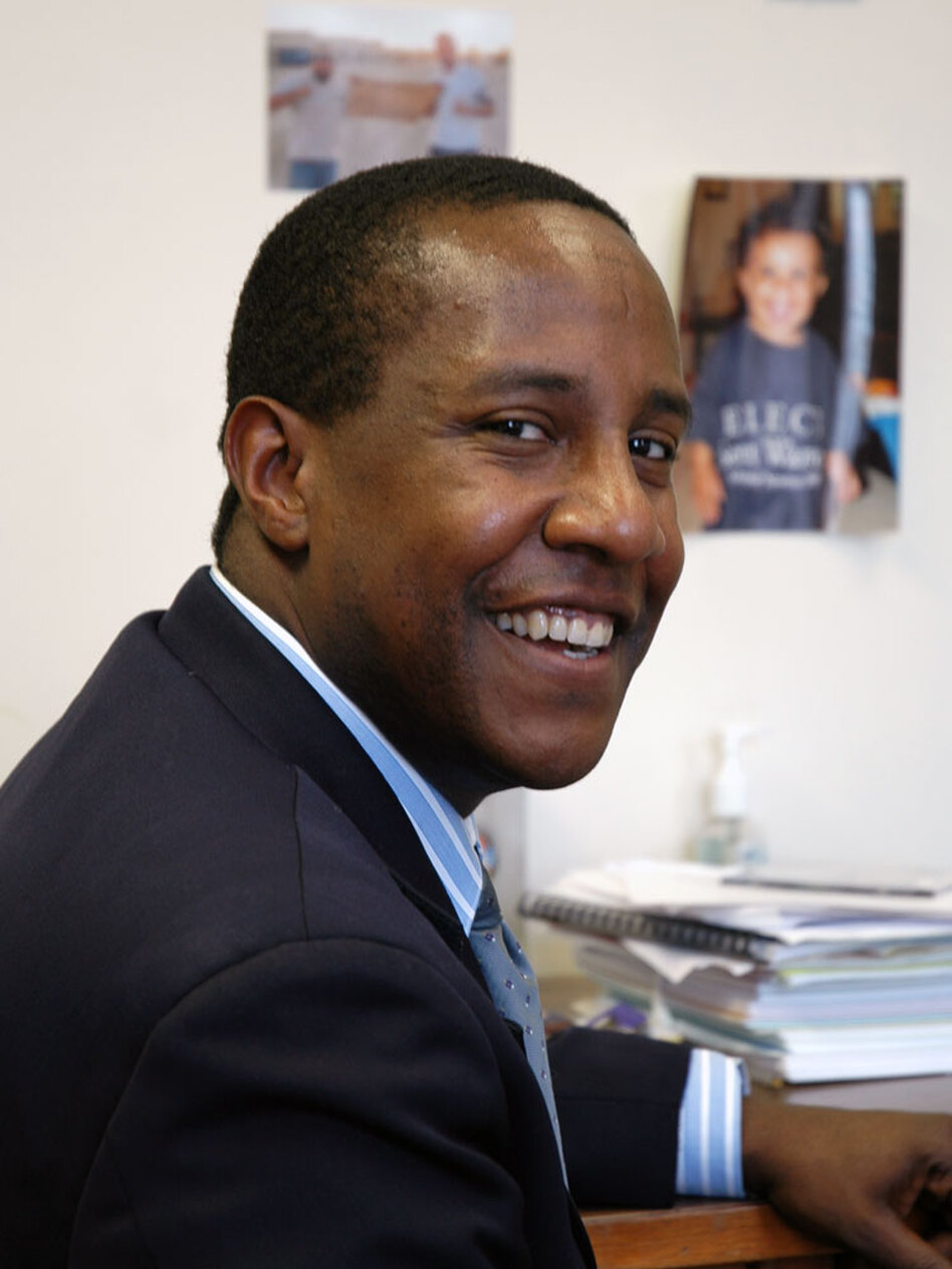 Setti Warren is the newly inaugurated mayor of Newton, Mass., an overwhelmingly white, affluent Boston suburb.